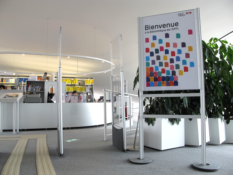 Ludivine Cornaglia, graphisme: identité visuelle et signalétique bibliothèque de l'EPFL