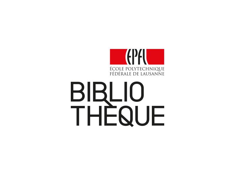 Logo de la Bibliothèque de l'EPFL - créer par Ludivine Cornaglia - 2013