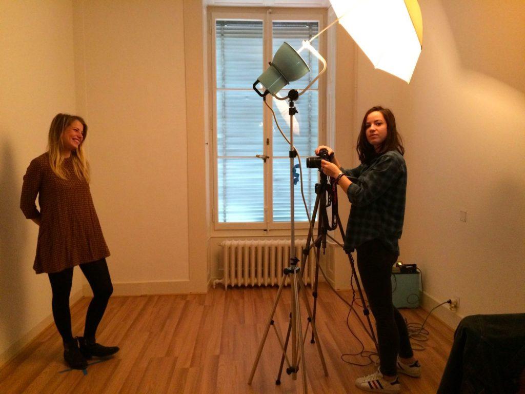 A la Fondation Emilie Gourd à Genève pour le shooting photo des lauréates