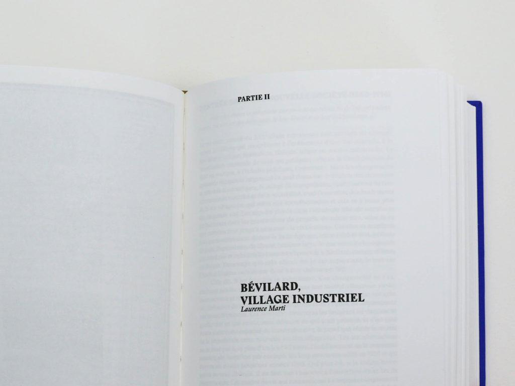 Partie 2 de l'ouvrage Bévilard dans l'Histoire - Village industriel écrite par Laurence Marti, historienne. Reliure au fil.