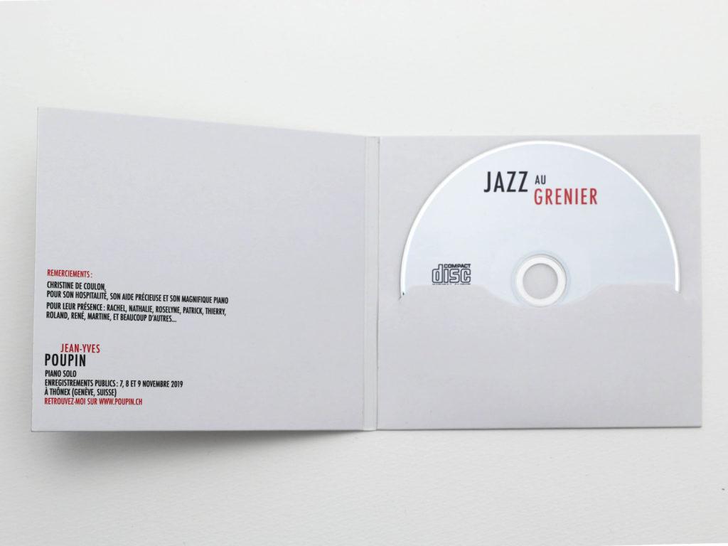 Intérieur de la Couverture d'album de Jazz au Grenier de Jean-Yves Poupin