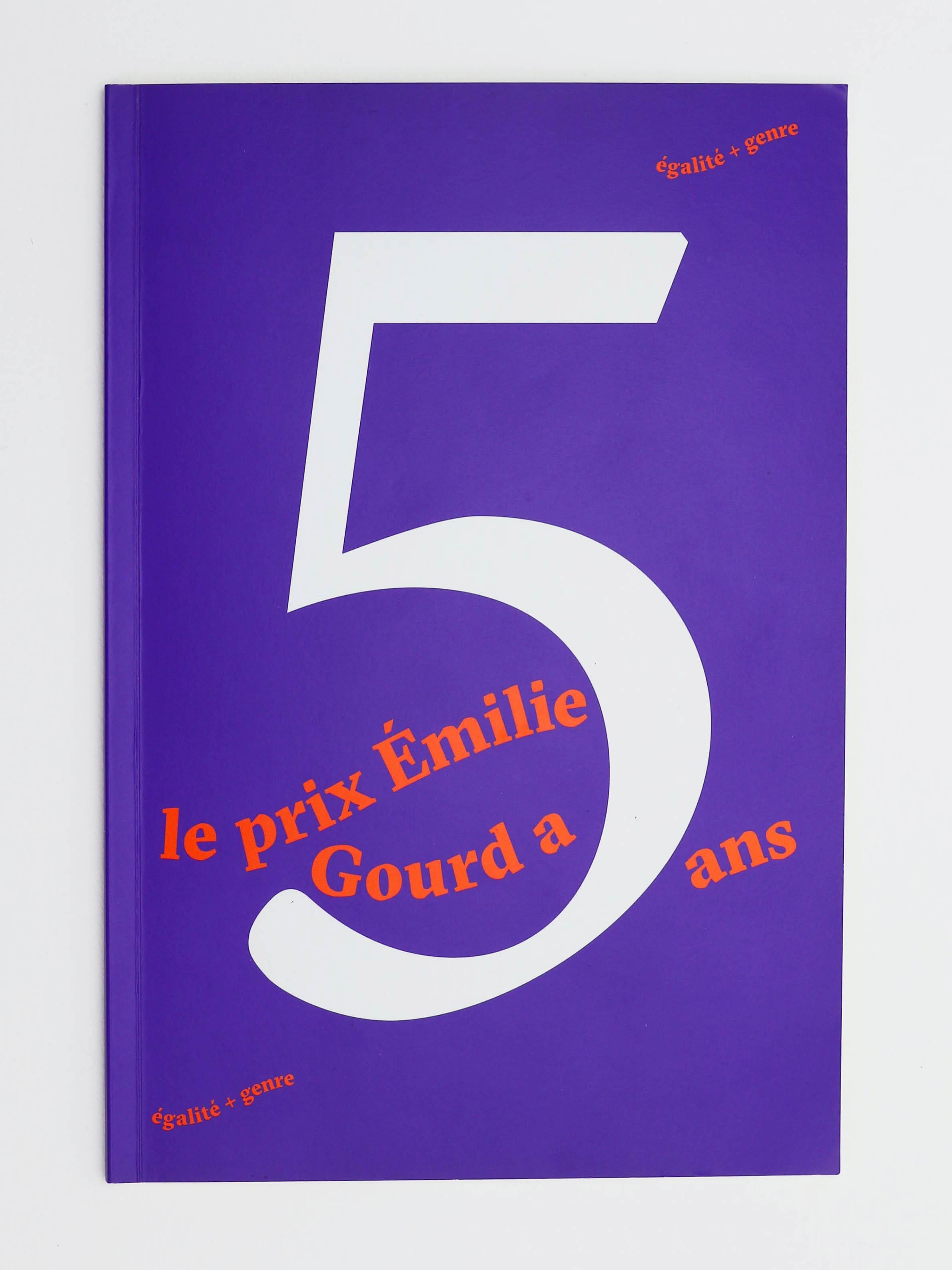 Première de couverture de la brochure commémorative des 5 ans du Prix Emilie Gourd