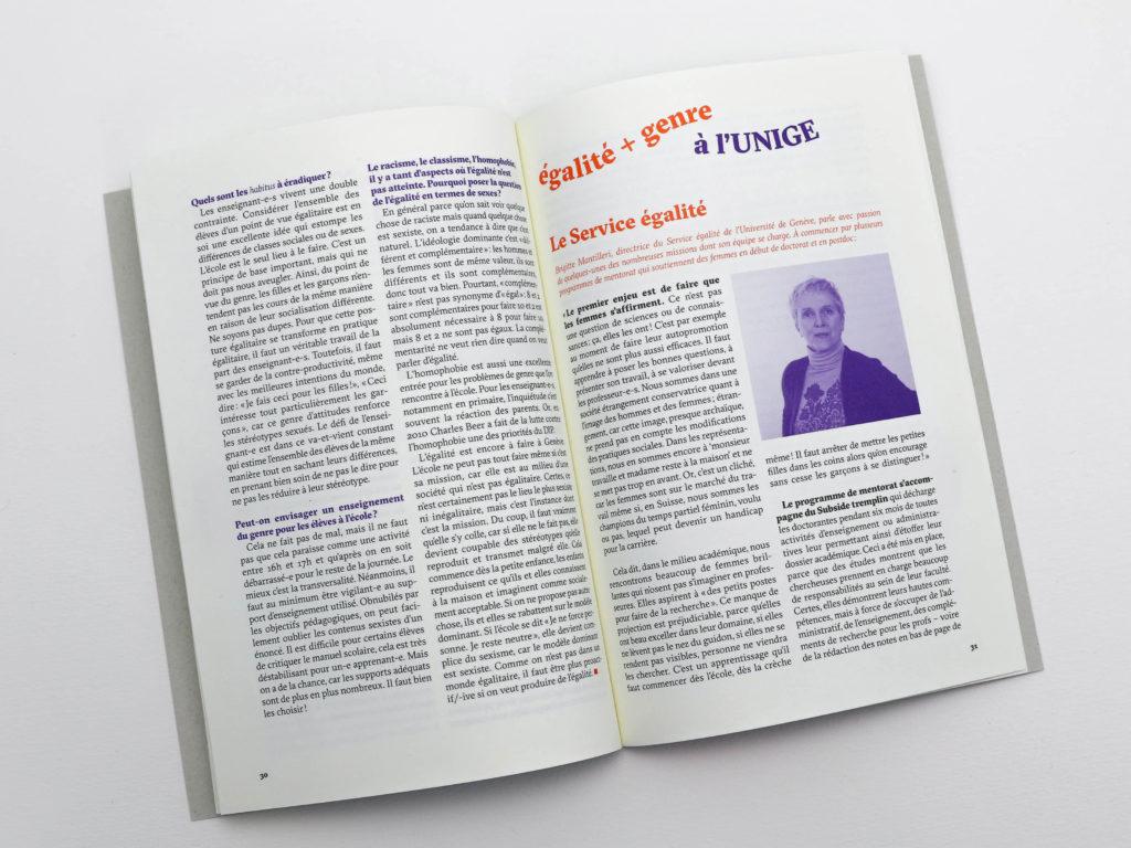 Interview de Brigitte Mantilleri, directrice du Service égalité de l'Université de Genève